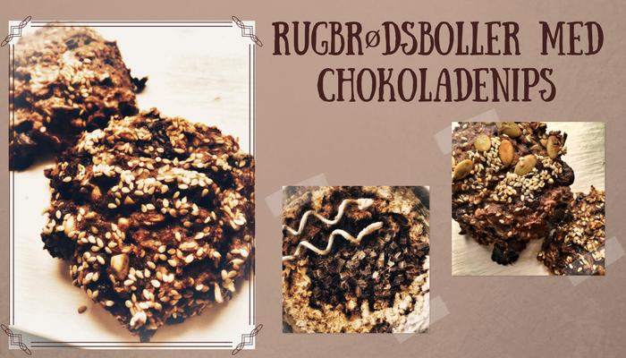 Rugbrødsboller med chokoladenips